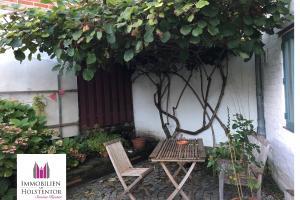 Altstadt-Innenhof mit Gemütlichkeit unter dem Kiwi-Baum